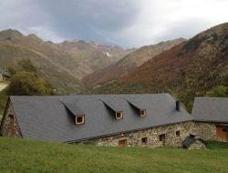 Charactere cottage near Gavarnie in the Pyrenees Mountains
