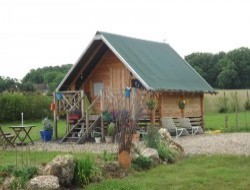 Unusual stay in hut on piles in France near Dame Marie les Bois