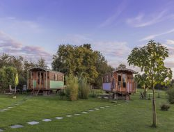 Unusual stay in gypsy caravans in the Loire Area.