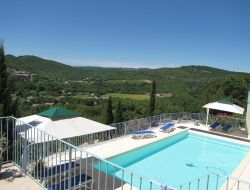 B & B with pool in Ardeche, Rhone Alps region. near Vogue