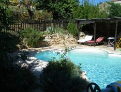 Big capacity holiday cottage in Ardeche, Rhone Alps near Saint Julien Labrousse