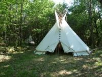 Unusual holidays under Teepees in Aquitaine near Saint Front sur Lémance