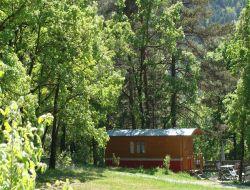 Vacances insolite en roulotte dans l'Aveyron.