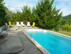Holiday home with pool in the Rhone Alps near Saint May