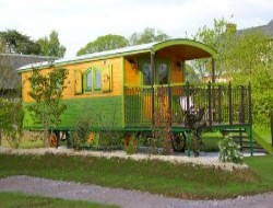 unusual holiday in a gypsy caravan in Normandy, France.