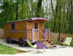 Unusual holidays in gypsy caravan near Paris in France