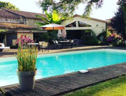 Holiday home with pool in Gironde, Aquitaine. near Pondaurat