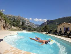 Holiday villa with swimming pool nearby Nice in France. near Andon