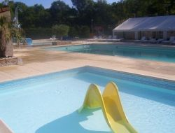 Holiday accommodations on a camping of Auvergne. near Aix la Fayette