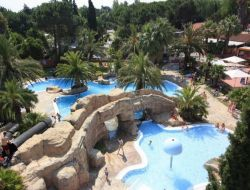 Seaside holiday accommodation in camping. near Saint Cyprien Plage