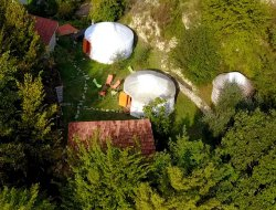 Unusual holiday in yurt in south of France near Roquebrune Cap Martin
