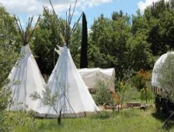 Holidays in Teepees in Languedoc Roussillon near Crespian