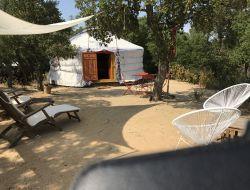 Vacances insolites en yourtes dans le Languedoc Roussillon.