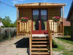 Unusual holidays in gypsy caravan near Blois in France near La Ferte Saint Cyr