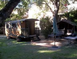 Unsual stay in gypsy caravan in Provence, France. near Uchaux