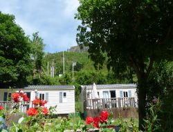Camping near Millau in Midi Pyrenees. near Verrieres