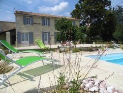 Holiday home in border of Dordogne and Gironde in Aquitaine.
