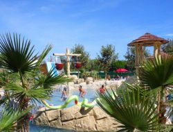 Seaside camping in Roussillon, France. near Canet en Roussillon