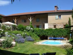 Holiday home with heated pool near Lyon in France.