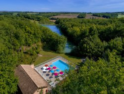 Holiday village in the Gers, Midi Pyrenees, France.
