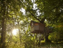 Unusual stay in perched huts in Aquitaine near Port Sainte Marie