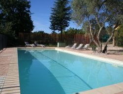 Holiday villa with heated pool in the Languedoc, France.