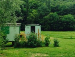 Unusual stay in gypsy caravan in the Lot, Midi Pyrenees. near Saint Denis les Martel