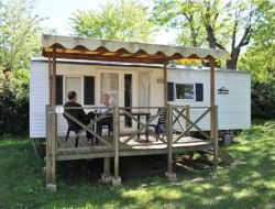Holiday rental on a camping in Ardeche, France.