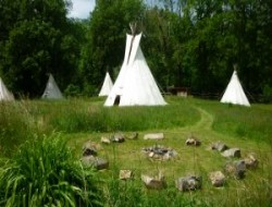 Unusual holidays in tepees in France.