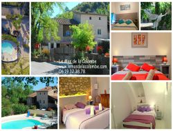 Big capacity holiday home in Ardeche, Rhone Alps.