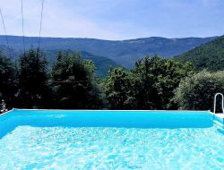 Holiday cottage with pool near Nice in France. near Roquebillière