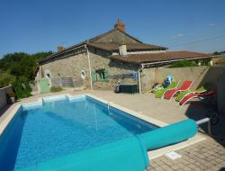 Holiday home with heatd pool near the Futuroscope in France.
