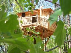Unusual stay in perched huts in the Lot et Garonne, France. near Port Sainte Marie