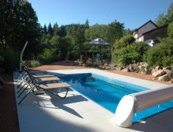 Holiday home with heated pool in Auvergne, France
