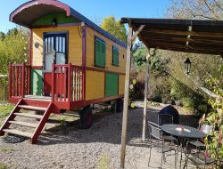 Unusual stay in gypsy caravan near Bordeaux, Aquitaine. near Preignac