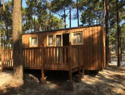 Camping mobil homes lac de Carcan Maubuisson