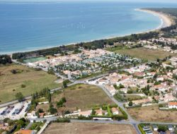 Seafront campsite on the Ile de Ré, France. near Saint Martin de Re