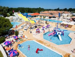 Seaside camping in Charente Maritime, France. near Saint Just Luzac