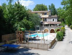 Holidays in a camping in Ardeche, Rhone Alps. near Saint Maurice d'Ibie
