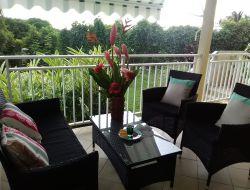 Holiday rental on Guadeloupe Island, Caribbean.