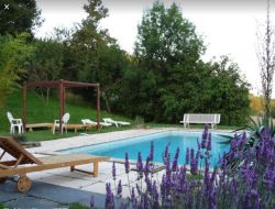 Holiday cottage with pool in the Tarn, Midi Pyrenees, in France.