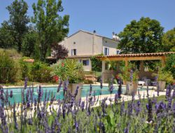 Holiday cottage with pool in the Drome, France.