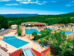Camping near Vallon Pont d'Arc in Ardeche, France. near Saint Maurice d'Ibie