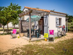 Seaside holiday village in Vendee coast, France.