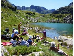 Camping in ariege pyrenees.