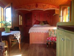 Unusual stay in a gypsy caravan near Nice in France. near Juan les Pins