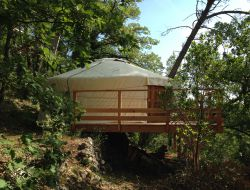 Unusual stay in yurt in Provence, south of France.