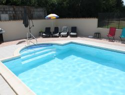 Holiday home with heated pool in Charente Maritime. near Saint Martial de Mirambeau
