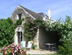 Holiday home with heated pool in Loire Valley, France.