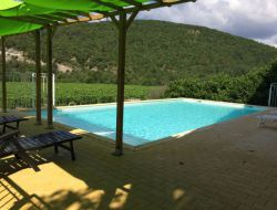 Holiday home with heated pool in Ardeche, France.